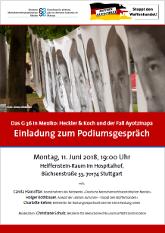 """Einladung zum Podiumsgespräch """"Heckler & Koch und Mexiko"""""""