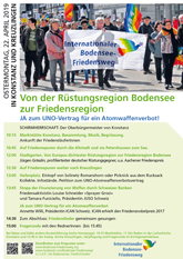 Einladungsflyer Internationaler Bodensee Friedensweg 2019